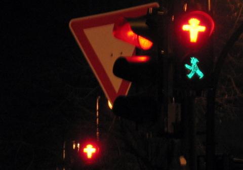 traffic lights east germany